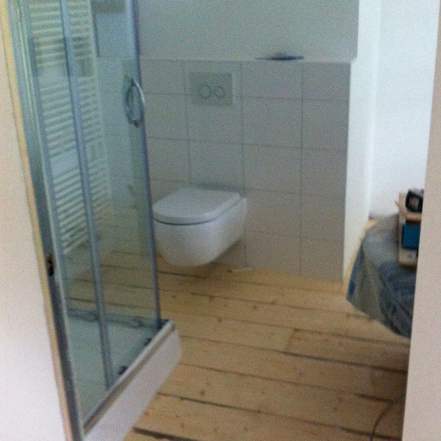 Douche -en toiletruimte met glas