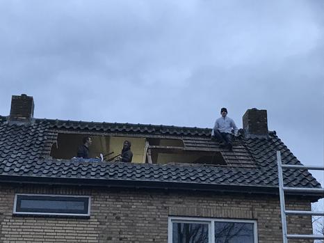 Voorbereiding dakkapel