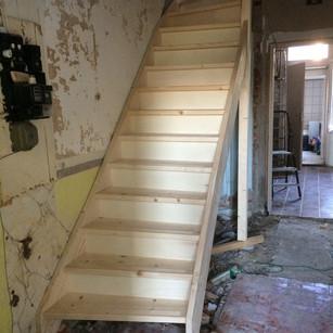 Trap voor restauratie in oude woning
