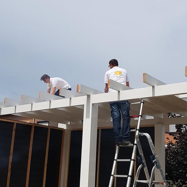 Het dak gereed maken