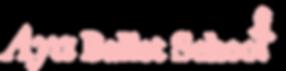 Aya Ballet School logo Side baby pink  v