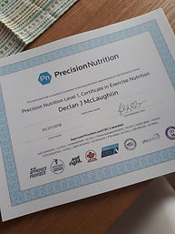 Precision Nutrition certifed