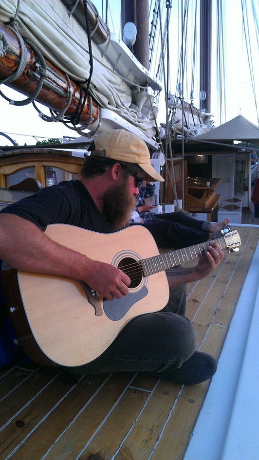 Some afternoon music on deck. Photo: Loraine Fahling