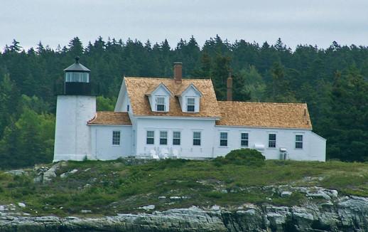 Pumpkin Island Lighthouse at the Eggamoggin Reach Photo: Mark Feffer