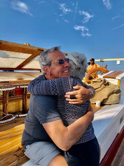 Enjoying a beautiful summer sailing day. Photo: Gerald Peek