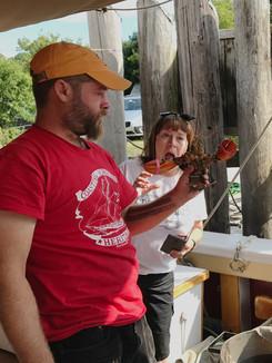 Fun with lobsters Photo: Debra Iliano