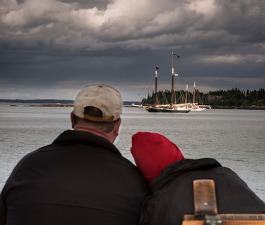 View at anchor during a gathering of the fleet. Photo: Marvin Moriarty