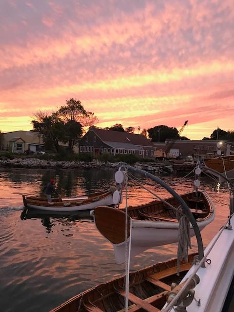 Sunset at the North End Shipyard Photo: Patricia Kelly
