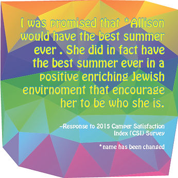 She did in fact have the best summer ever in a positive, enriching Jewish environment.