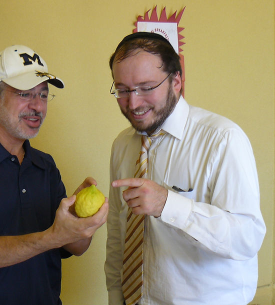 Rabbi Fromowitz with Elliot Karp