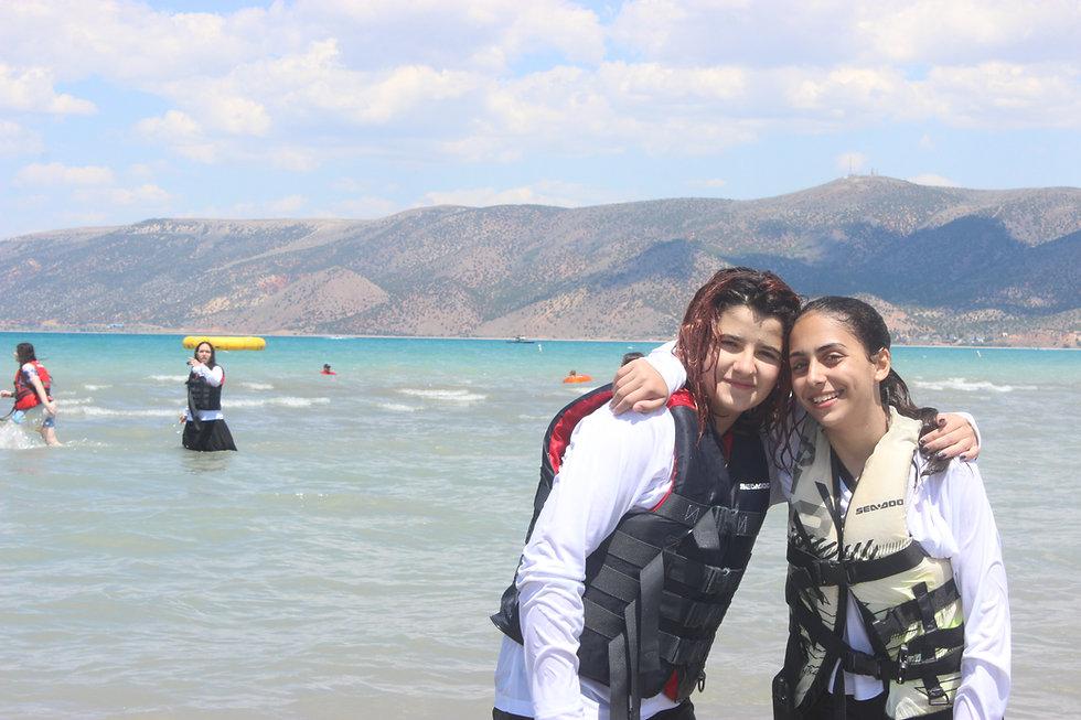 Girls at the Lake Camp Nageela West Utah summer 2021