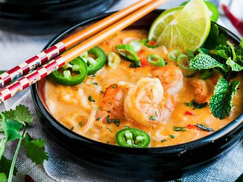 Soupe crevette thaï & lait de coco