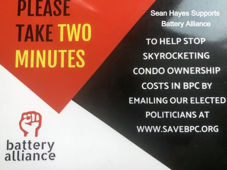 NYC Council Candidate Sean Hayes Supports Battery Alliance