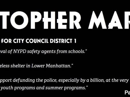 Chris Marte on Public Safety & Education