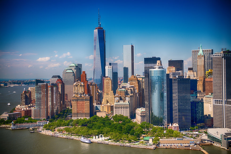 New York. Stunning helicopter view of lo