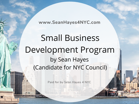 Small Business Development Program by Sean Hayes a Candidate for NYC Council in District 1