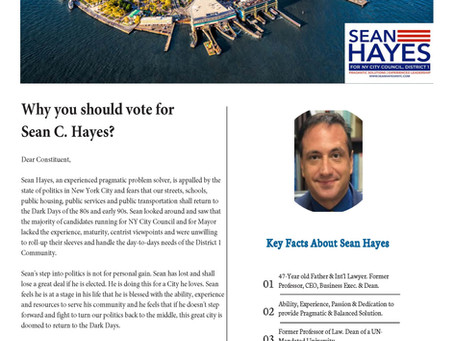 Newspaper of Sean Hayes 4 NYC (Issue 1)