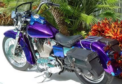Chromlackierung Motorrad