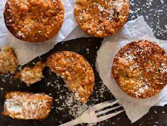 Receta: Muffins de plátano con corazones de Hemp