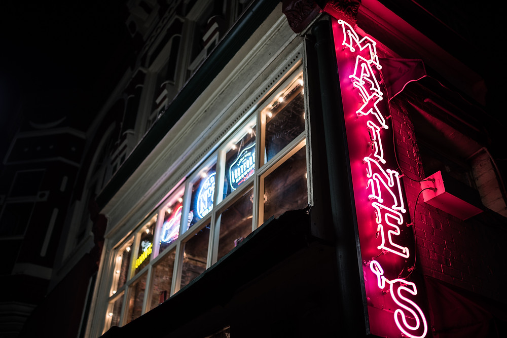 Maxine's bar neon lights downtown hot springs arkansas