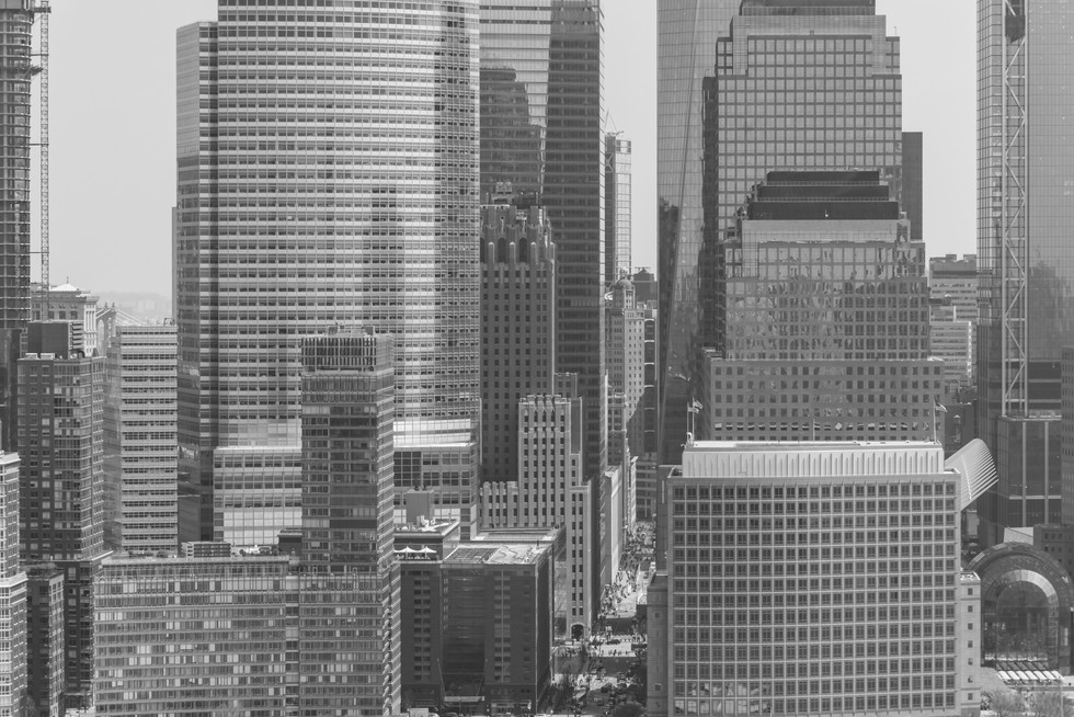 A view deep into Manhattan streets