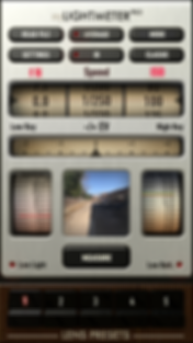 light meter app use by film photographers for getting correct exposure
