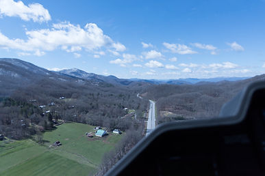 I-40 Westbound headed through Canton Gap near Asheville NC in A109 Helicopter