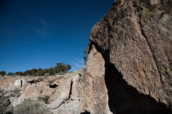 Petroglyph, New Mexican landscape