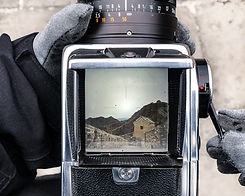 hasselblad view finder great wall of china analog medium format photography