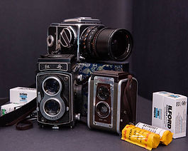hasselblad, mudan, brownie, cameras ilford kodak 120 roll film