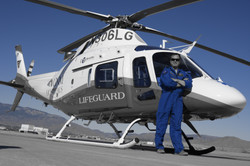 Lifeguard Pilot and Helicopter