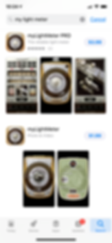 apple app store photograher light meter app for iPhone