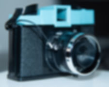 Shutter release button on Diana camera