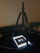tripod and DSLR with nikkor macro lens