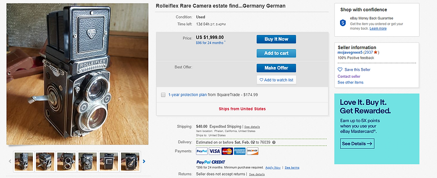 very expensive rolleiflex unknown condit