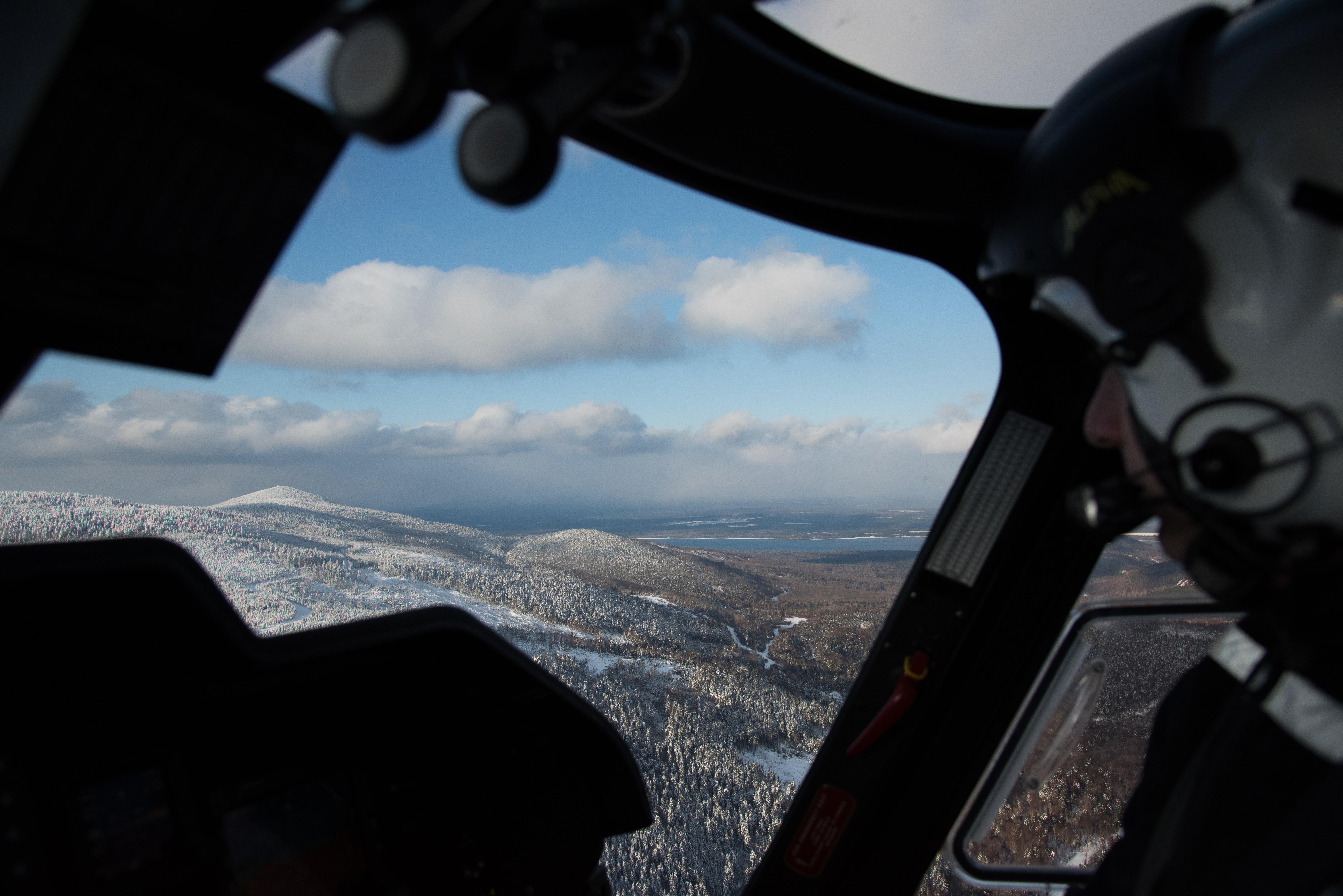 Agusta helicopter Mt Katahdin Maine
