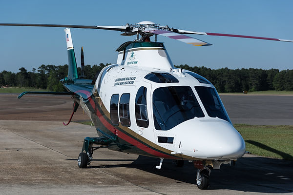 N901WM LifeFlight of Maine new helicopter operated by SevenBar Aviation parked in Texarkana