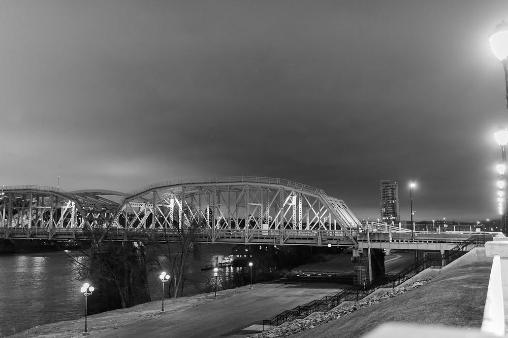 L and N Pedestrian Bridge, converted railway bridge over the Ohio River in Cincinnati OH