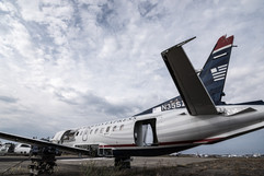US Airways express in graveyard N35SZ