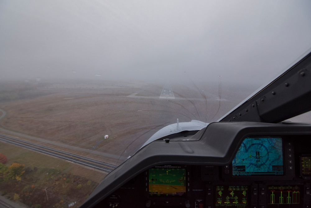 LPV approach to minimums in A109SP Agusta Grand New IFR helicopter