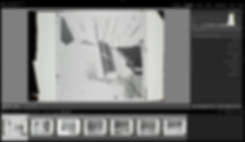 Adobe lightroom Develop tab view