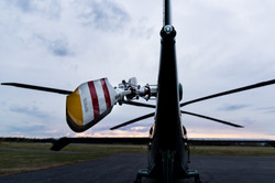 N901WM tail rotor in sunset