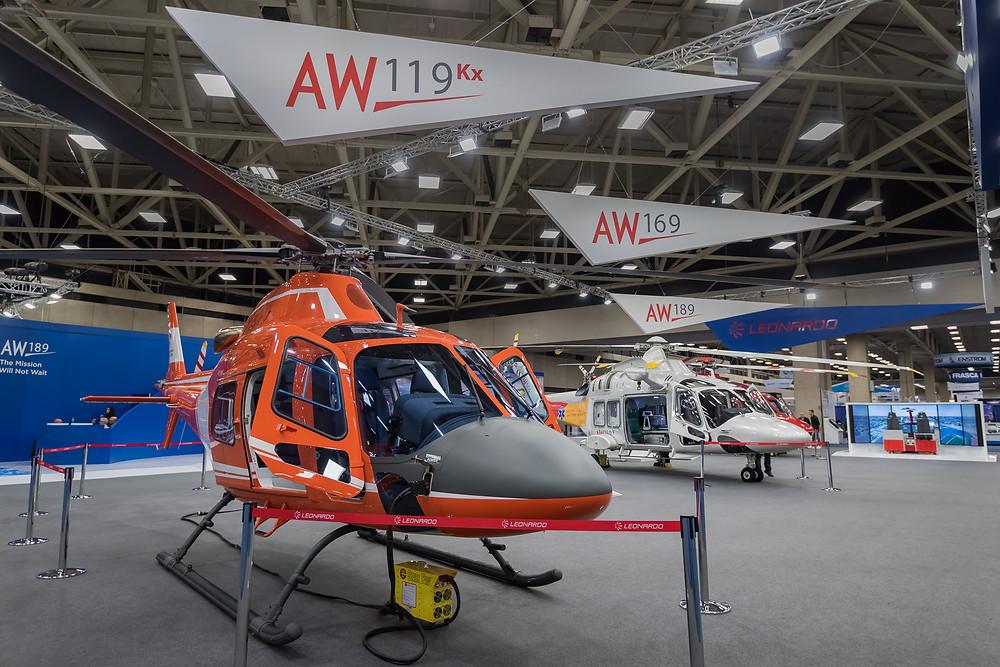 Agusta, Leonardo Helicopter booth at Heli Expo 2017