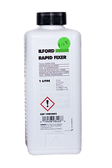 Ilford Rapid fixer black and white film chemicals used in darkroom film processing
