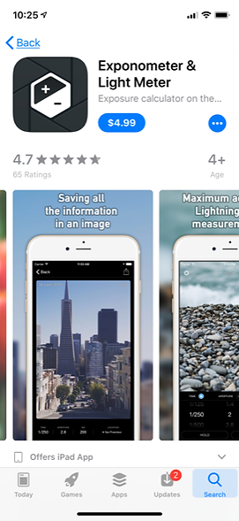 great photography app for use with manual mode and film cameras