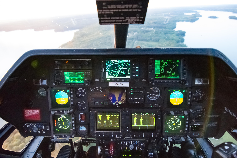 A109E cockpit instrument panel