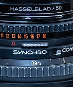 Preview selector on Carl Zeiss lens for Hasselblad film camera