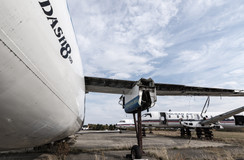 Dash8, prop plane, turbo prop boneyard