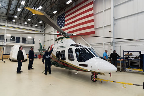 Leonardo factory in Philadelphia PA brand new Agusta AW109SP