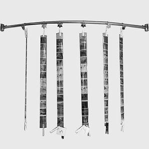 medium fomat film hanging to dry